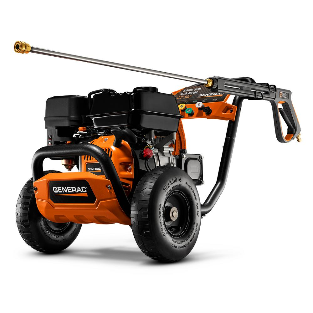 Generac 3600 PSI 2.6 GPM Professional Power Gas Pressure Washer