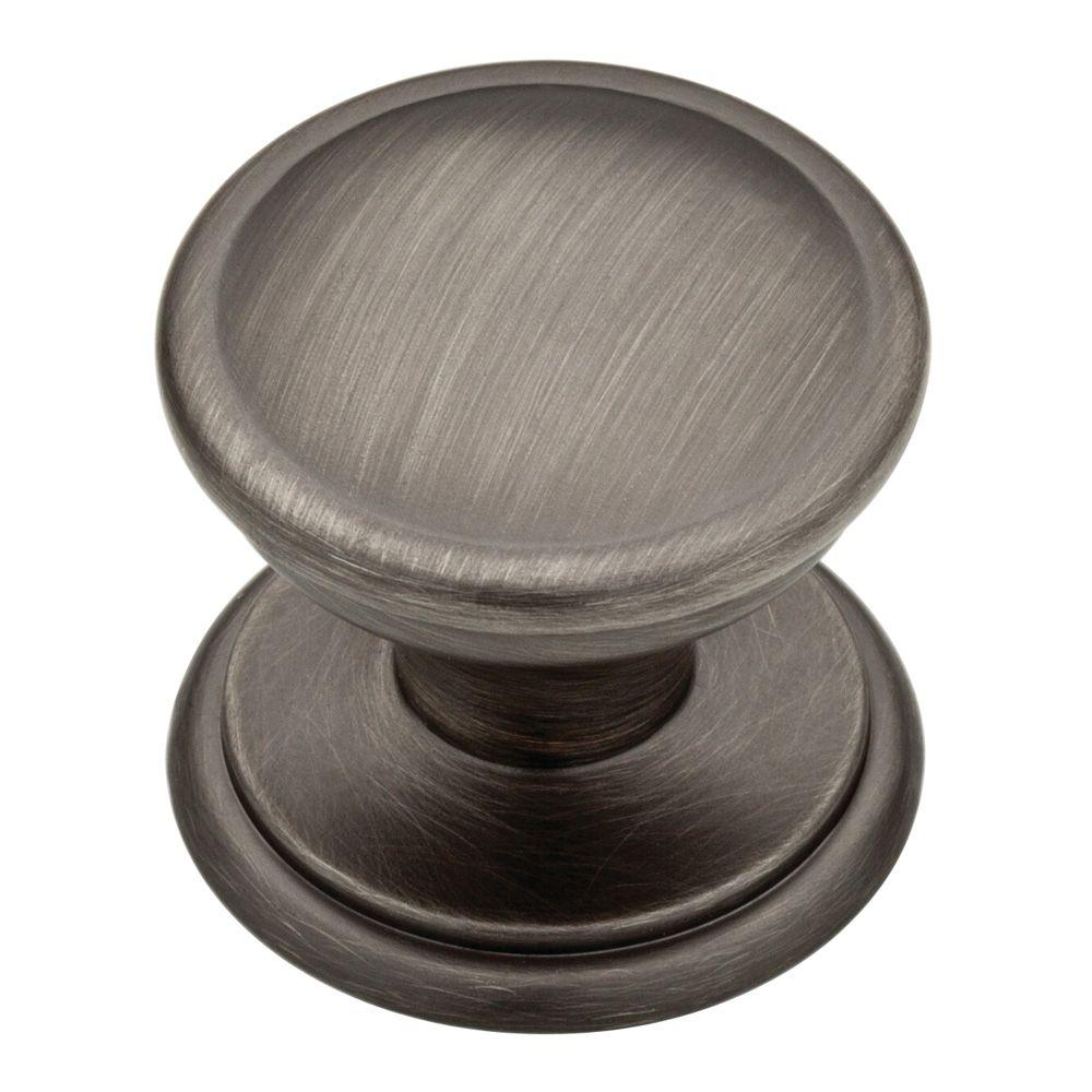 liberty chapman 1 3 8 in heirloom silver cabinet knob p26809c 904 c the home depot. Black Bedroom Furniture Sets. Home Design Ideas