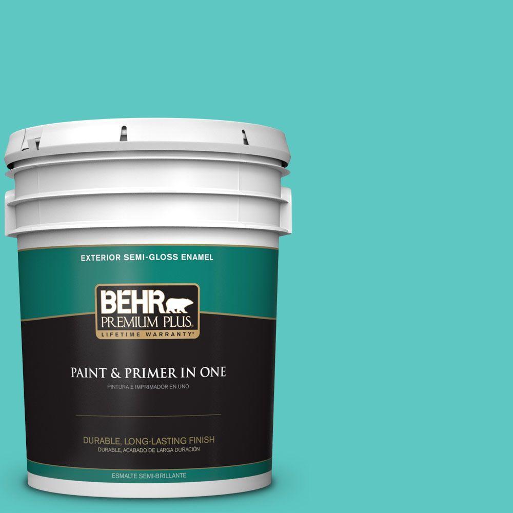 5-gal. #490B-4 Sea Life Semi-Gloss Enamel Exterior Paint