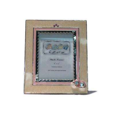 Booties 4 in. x 6 in. Girl Pink Color Picture Frame