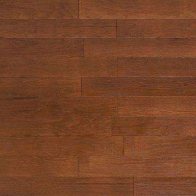 Take Home Sample - Brushed Vintage Hickory Cashmere Engineered Click Hardwood Flooring - 5 in. x 7 in.