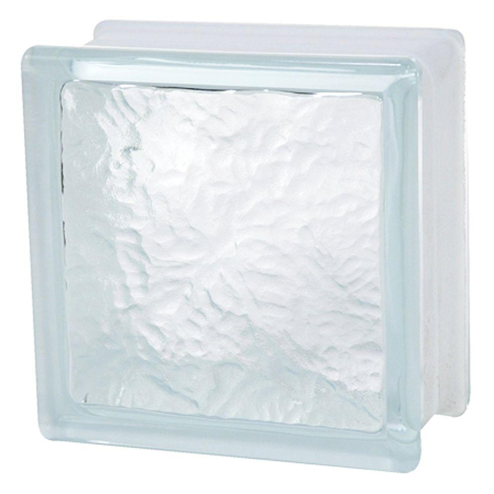 TAFCO WINDOWS 6 in. x 6 in. x 3-1/8 in. Ice Pattern Glass Block 10/CA