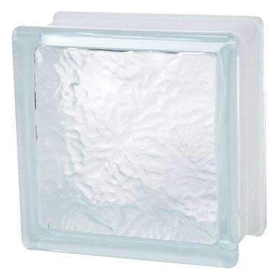 6 in. x 6 in. x 3-1/8 in. Ice Pattern Glass Block 10/CA