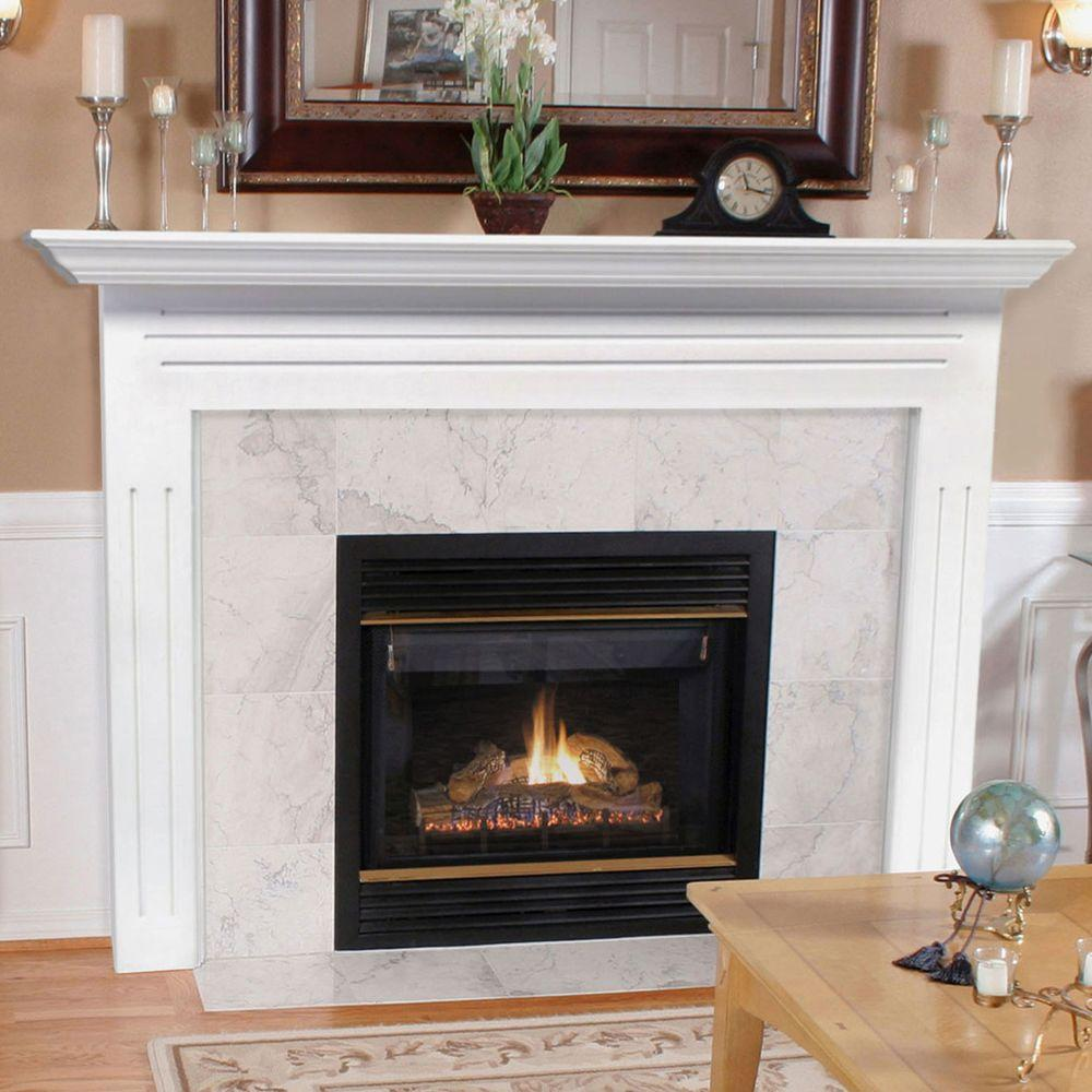 Pearl Mantels Newport 65 In X 51 Mdf White Full Surround Mantel