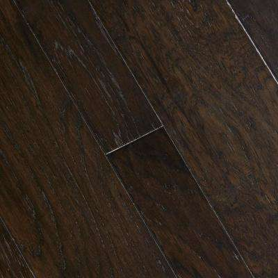 HS Distressed Lennox Hickory 3 8 in  T x 1 2 Dark Engineered Hardwood Wood Flooring The Home Depot