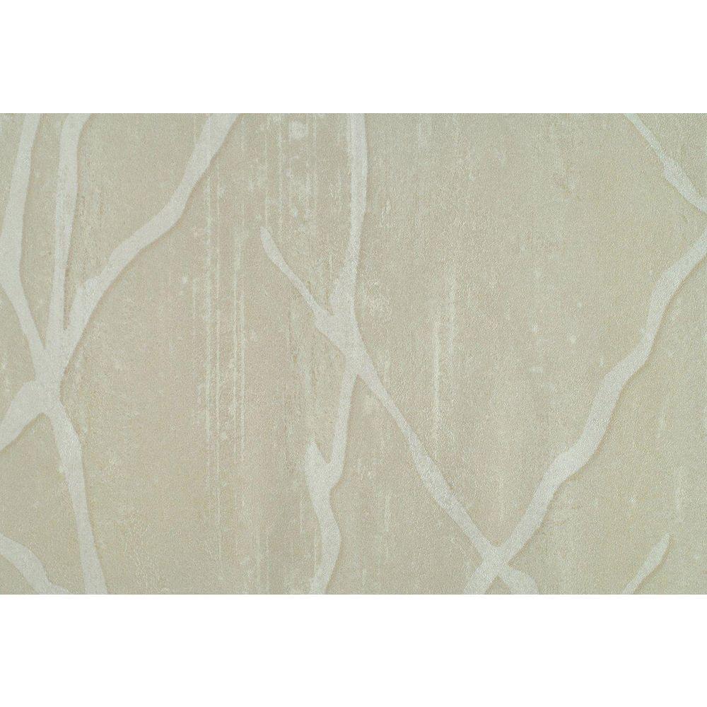 Beige Willow Branch Print Wallpaper