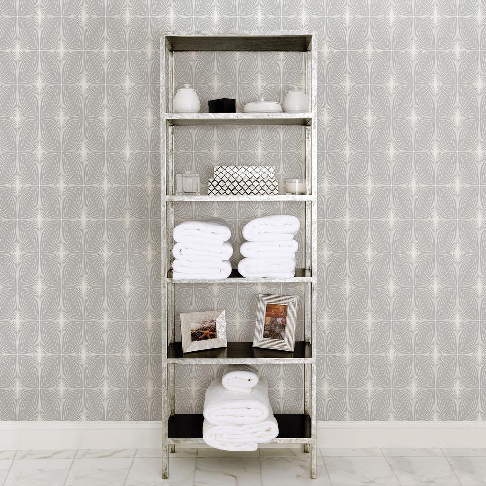 Starlight Grey Diamond Wallpaper