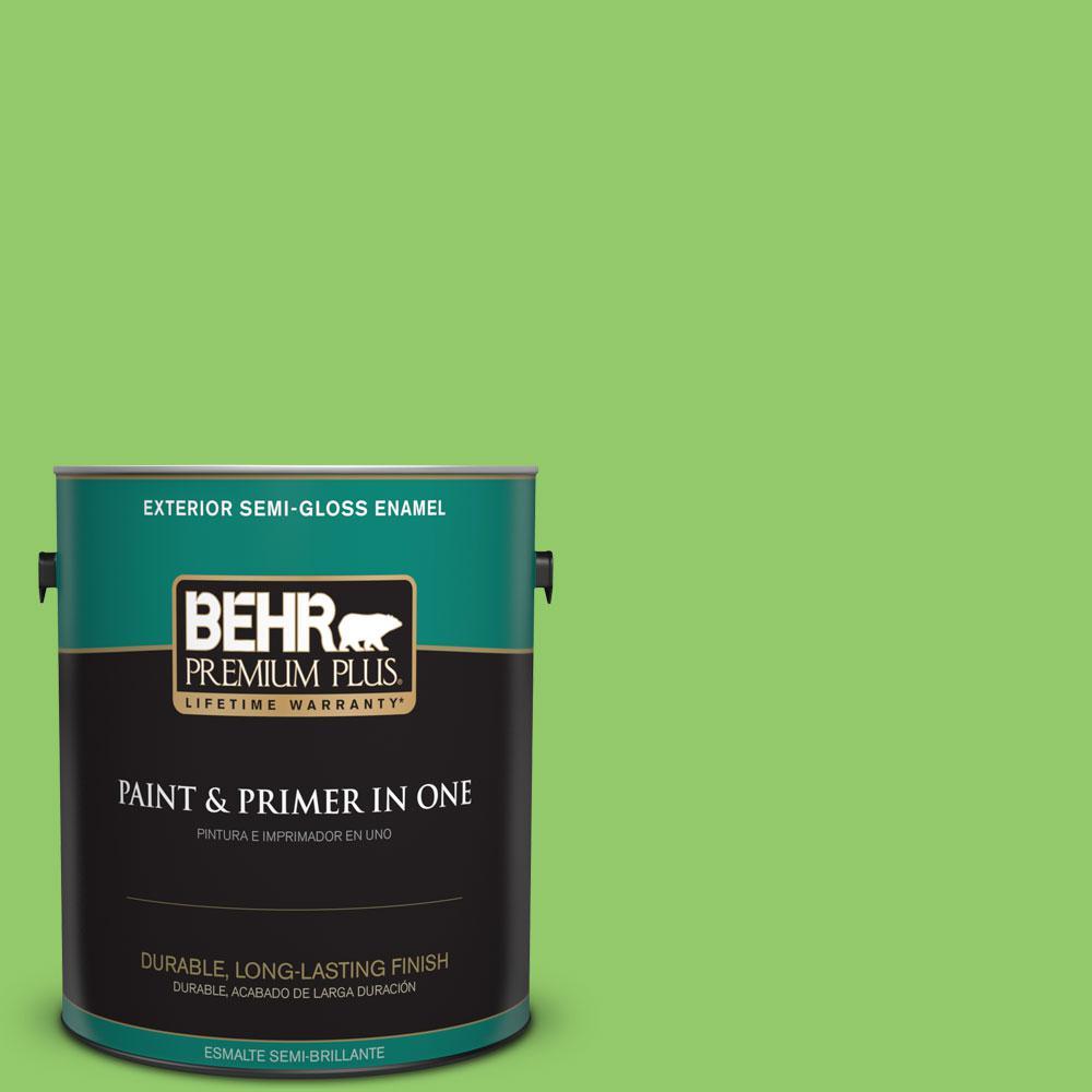 BEHR Premium Plus 1-gal. #430B-5 Apple Orchard Semi-Gloss Enamel Exterior Paint