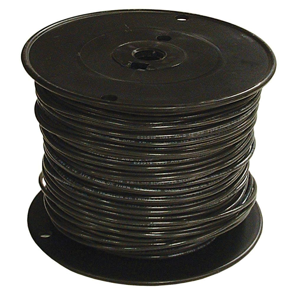 Southwire 1000 ft. 6 Black Stranded CU SIMpull THHN Wire