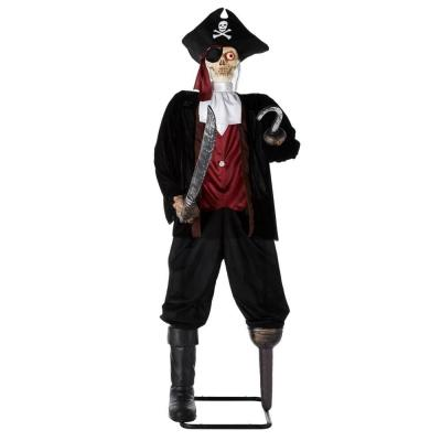 5 ft. Animated Pirate with LED Illuminated Eyes