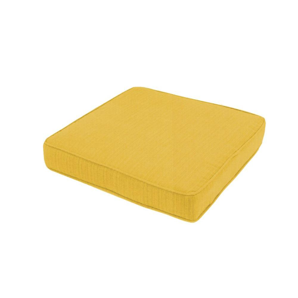 Floor Cushions Outdoor : Paradise Cushions Gold Outdoor Floor/Pool Cushion-PL05PC2-48024 - The Home Depot