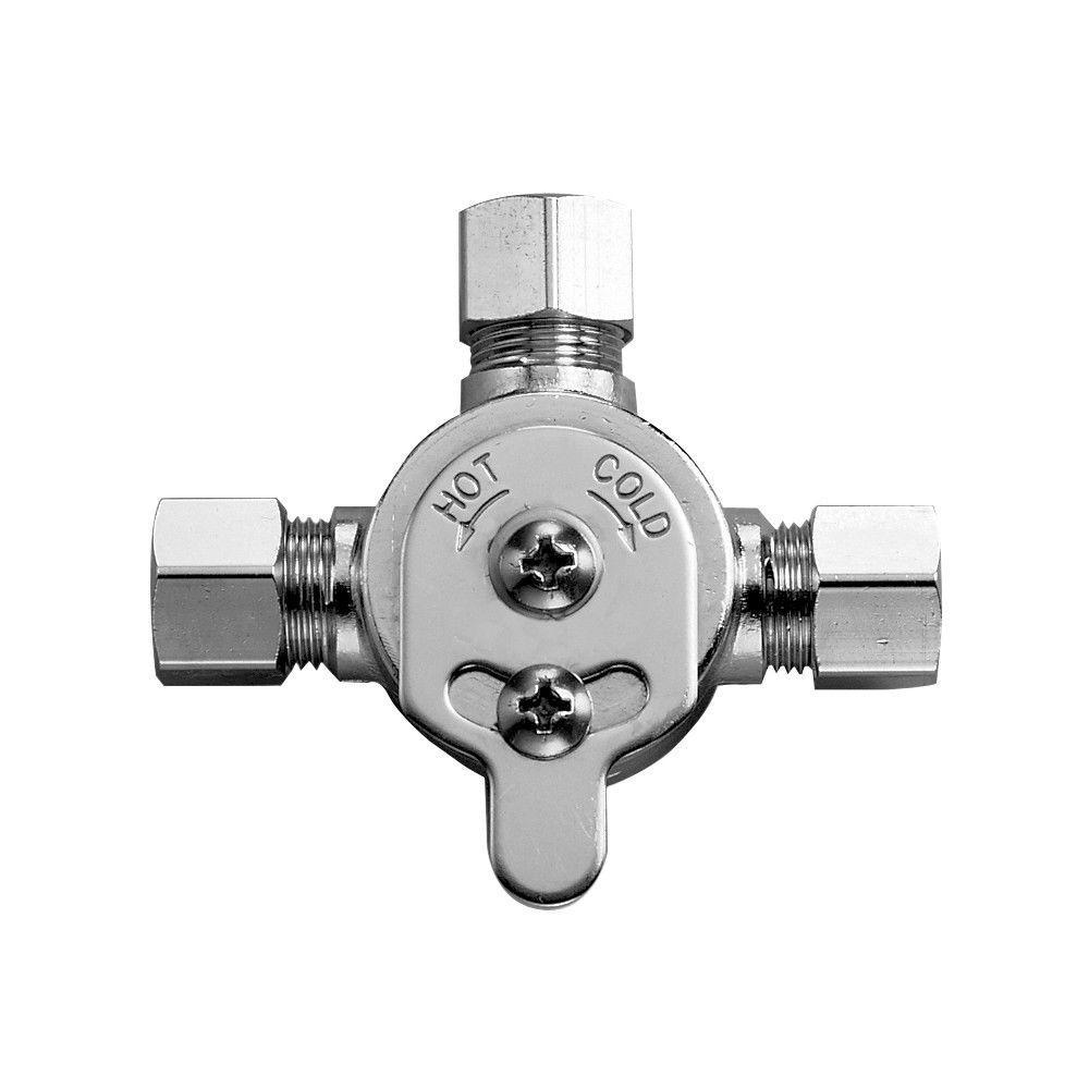 Sloan Mix60A, 3326009 Optima Faucet Mixer Below Deck Mechanical Water Mixing Valve, Polished Chrome by Sloan