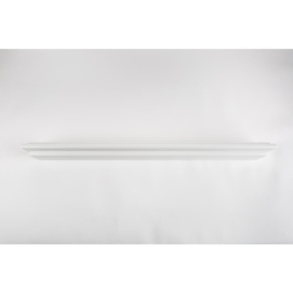 60 in. W X 2.5 in. D White Mantle Floating Wall