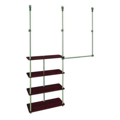 4 ft. - 8 ft. Laminate Closet Maximizer in Dark Cherry