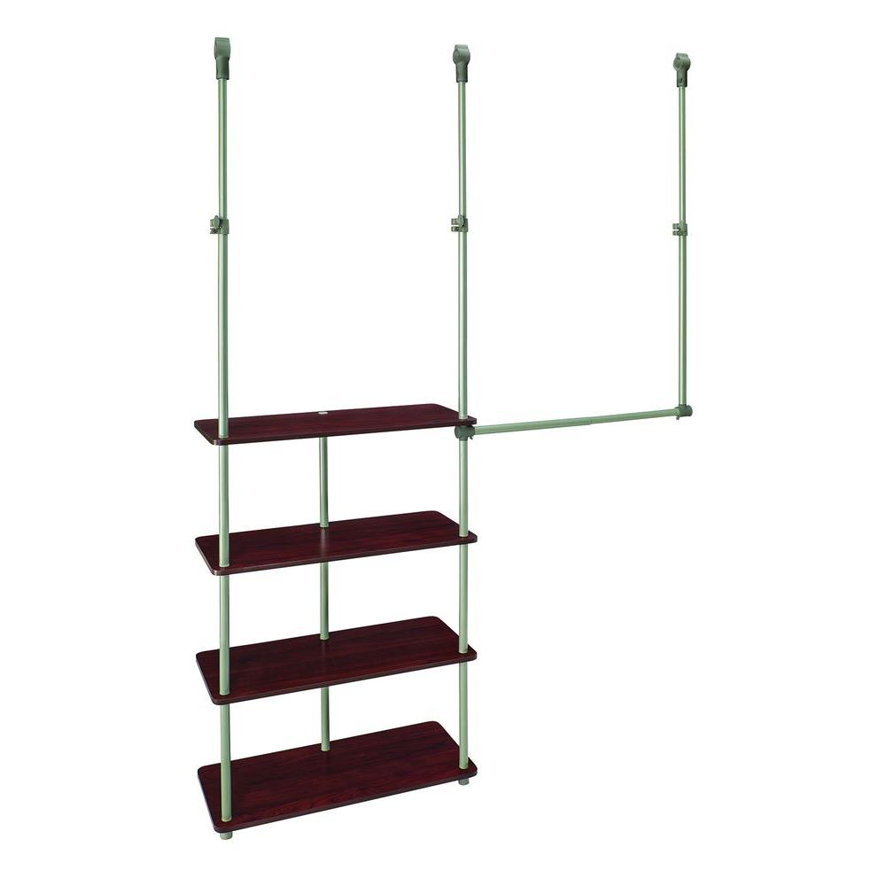 4 Ft.   8 Ft. Laminate Closet Maximizer In Dark Cherry