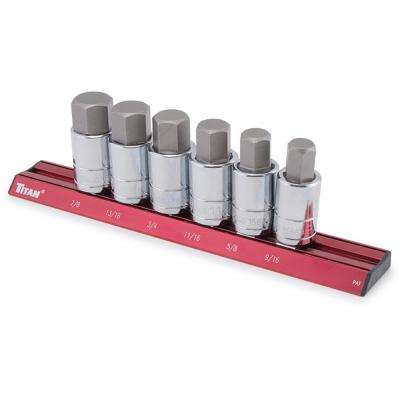 13-Piece SAE Hex Bit Socket Set