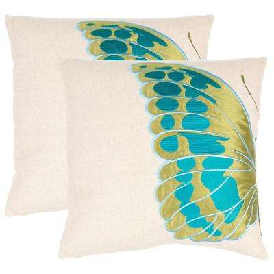 Indra Blue Wing Nature Pillow (2-Pack)