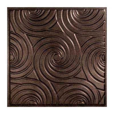 Typhoon - 2 ft. x 2 ft. Lay-in Ceiling Tile in Smoked Pewter