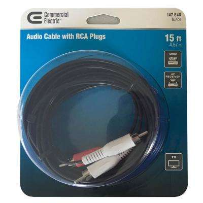 15 ft. Audio Cable with RCA Plugs