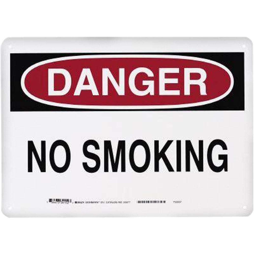 Brady 10 in. x 14 in. Fiberglass No Smoking Sign