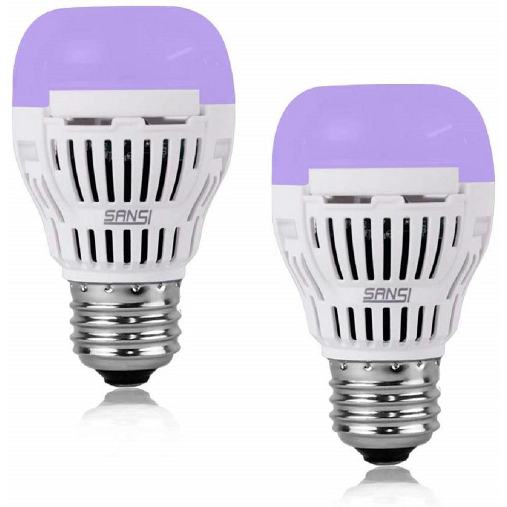 E26 6 Pack Sunlite LED A Type Blacklight 2W Bulb Medium Base UV Black Light
