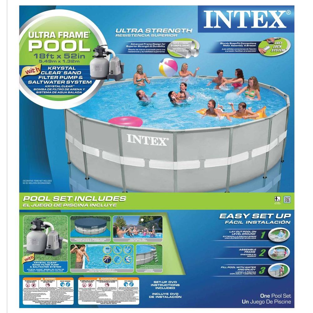 Intex 18 ft. x 52 in. Ultra Frame Pool Set