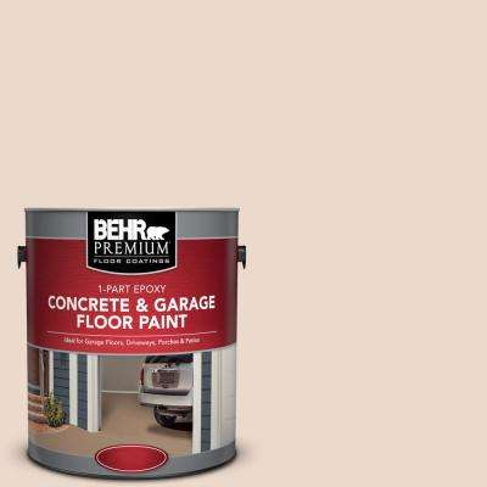 1 gal. #S240-1 Creme Fraich 1-Part Epoxy Satin Interior/Exterior Concrete and Garage Floor Paint