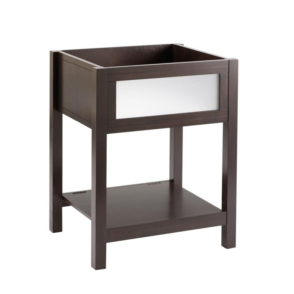 American Standard Cardiff 20 in. Vanity Cabinet Only in Espresso ...