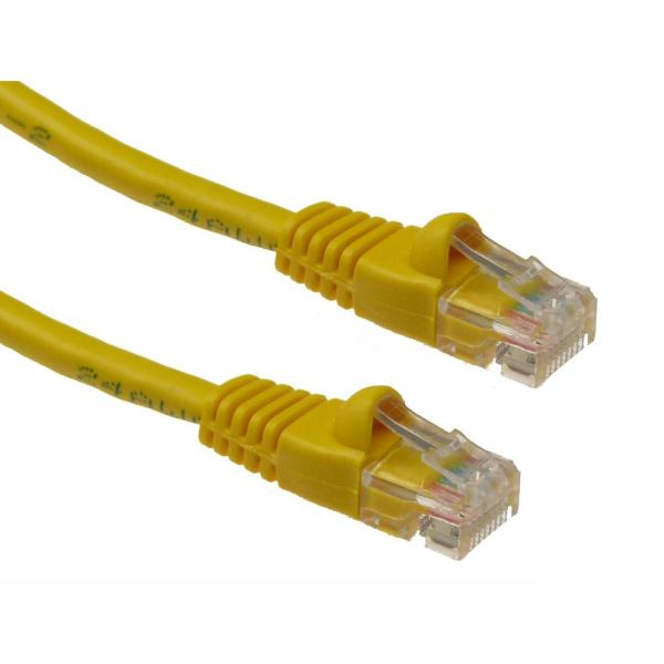 CLASSYTEK Cat6 24AWG UTP Ethernet Network Patch Cable 10ft Yellow