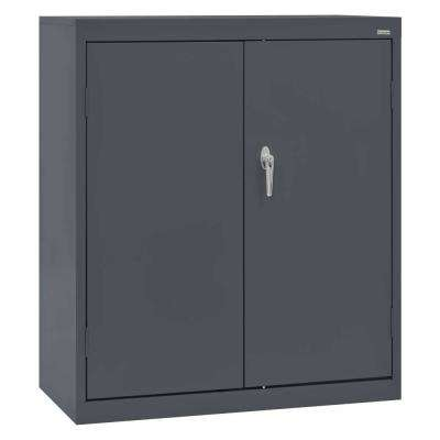Classic Series 42 in. H x 36 in. W x 18 in. D Steel Counter Height Storage Cabinet with Adjustable Shelves in Charcoal