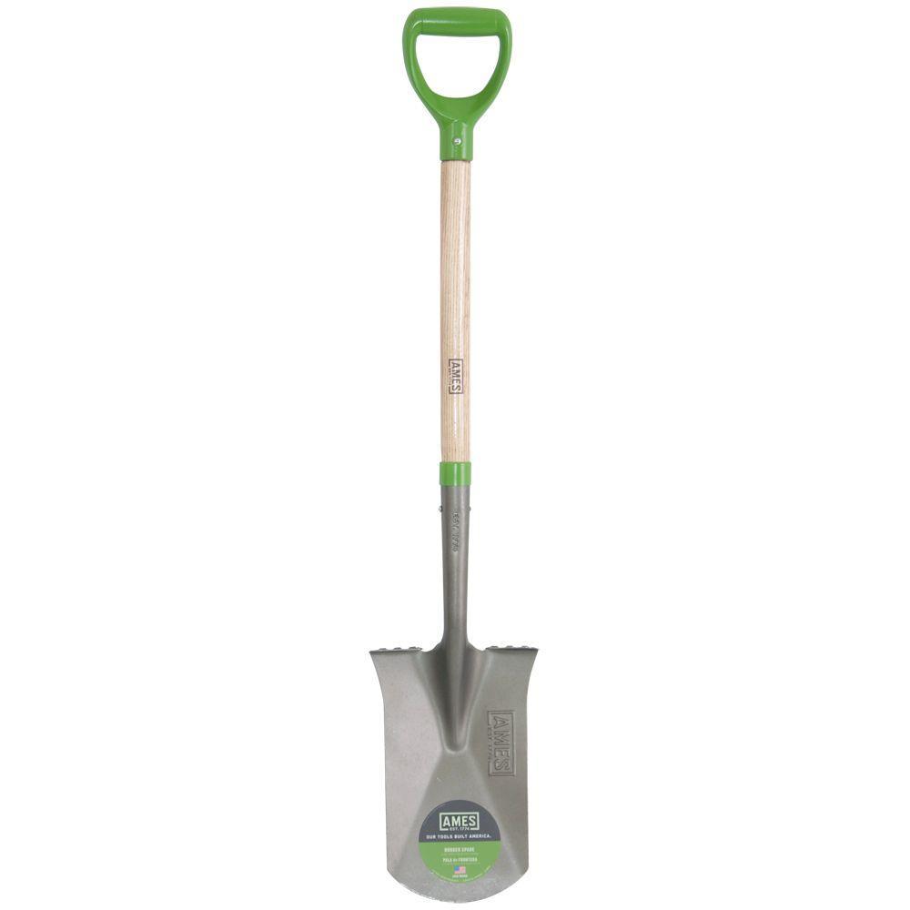 24 in. Wood Handle Garden Spade