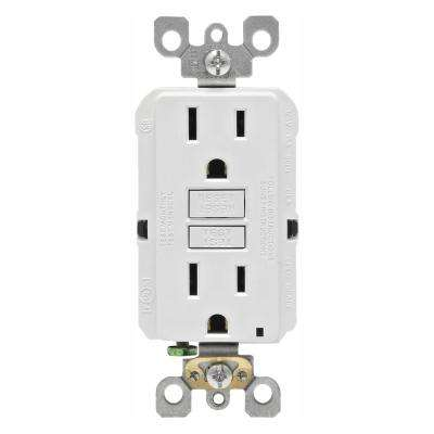 15 Amp 125-Volt Duplex Self-Test Slim GFCI Outlet, White (4-Pack)