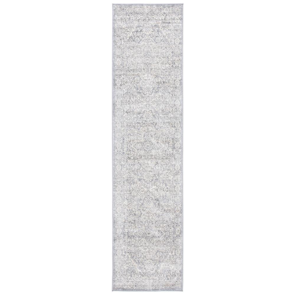 Brentwood Light Gray/Ivory 2 ft. x 8 ft. Runner Rug