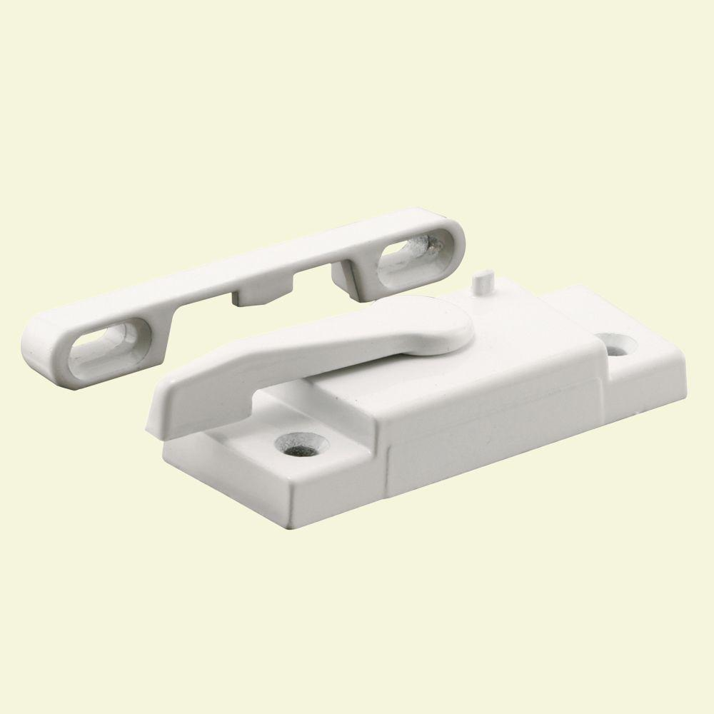 Prime-Line Window Sash Lock with Keeper Right Hand in White