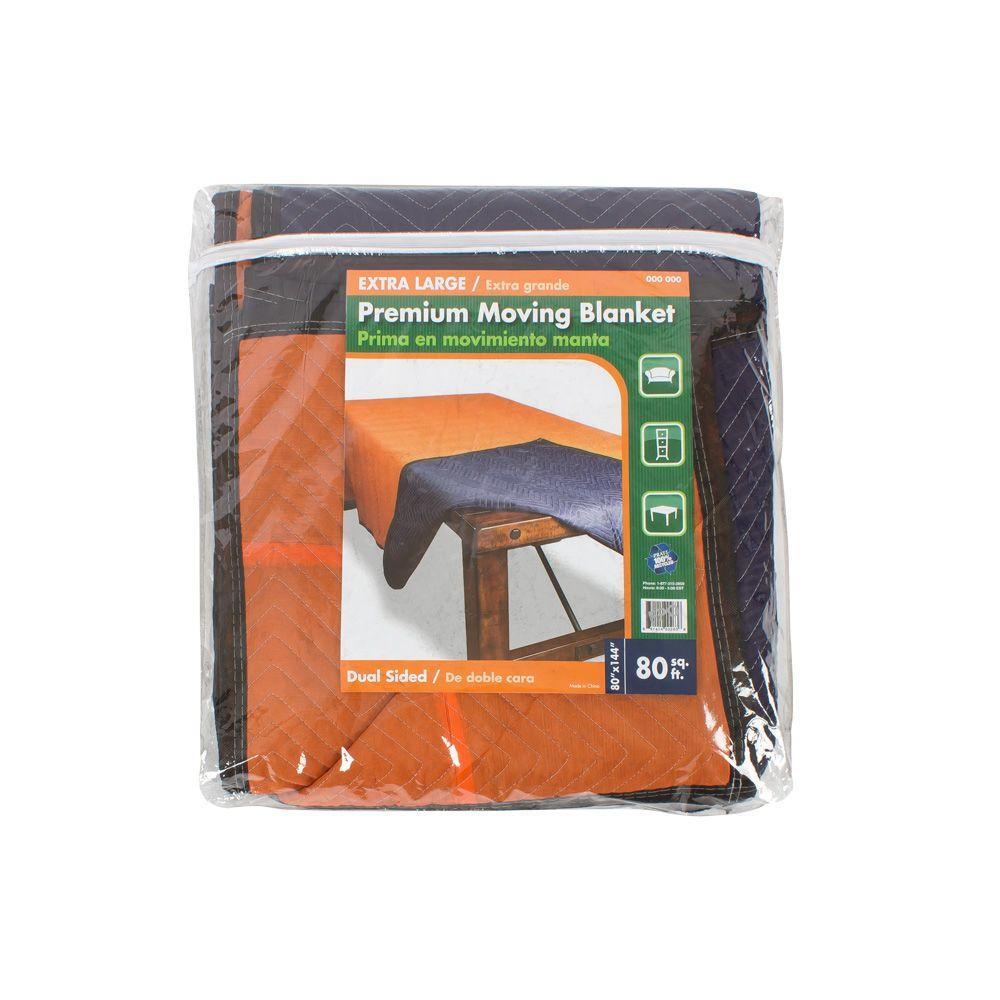The Home Depot 144 in. x 80 in. Extra Large Premium Moving Blanket ... : moving quilts - Adamdwight.com