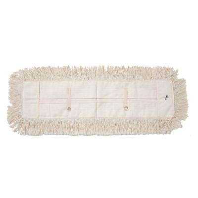24 in. Dust Mop with 5 in. x 24 in. Tie on Mop Head (6-Pack)