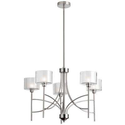 Delano 5-Light Satin Chrome Chandelier