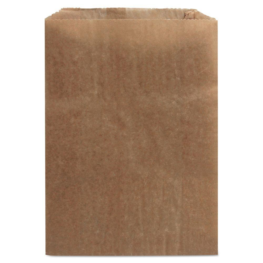 HOSPECO 9 in. x 10 in. x 3-1/4 in. Waxed Kraft Liners (Case of 500)