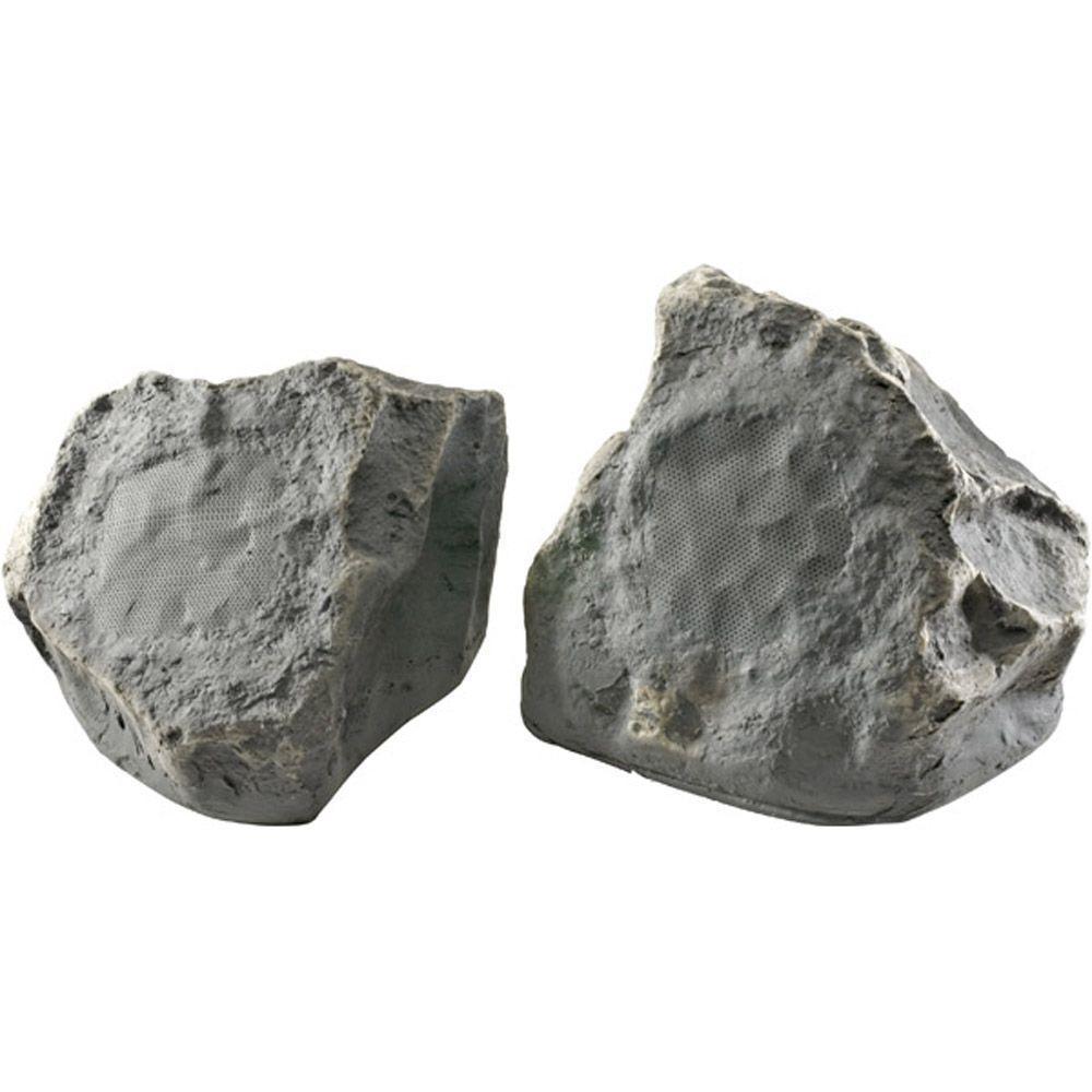 TIC 6 1/2 in. 150-Watt 2-Way Terra-Forms Stone Speaker - Slate