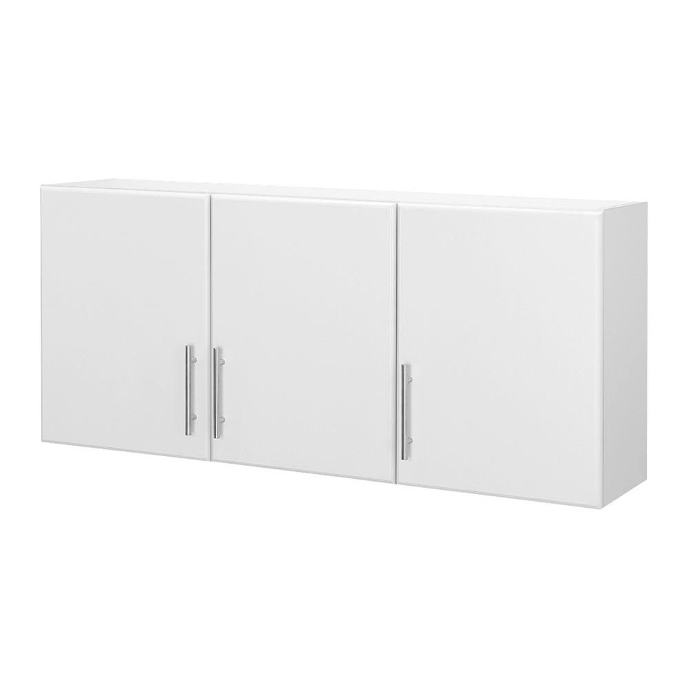 Hampton Bay 12 in. D x 54 in. W x 24 in. H 3-Door Wall Cabinet Wood Closet System in White