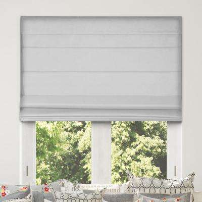 Light Gray Cordless Bottom Up Blackout Fabric Roman Shade 30.5 in. W x 72 in. L (Actual Size)