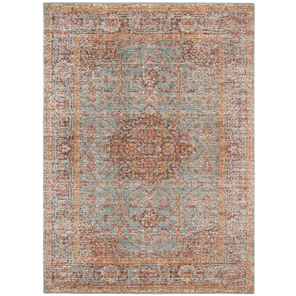 Amer Rugs East Ellington Teal Green Bordered 2 Ft 2 In X