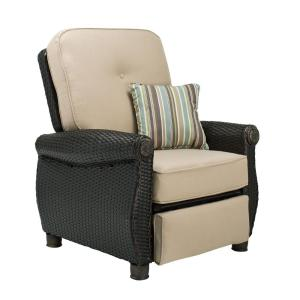 La-Z Boy Breckenridge Wicker Outdoor Recliner with Sunbrella Spectrum Sand Cushion by La-Z Boy