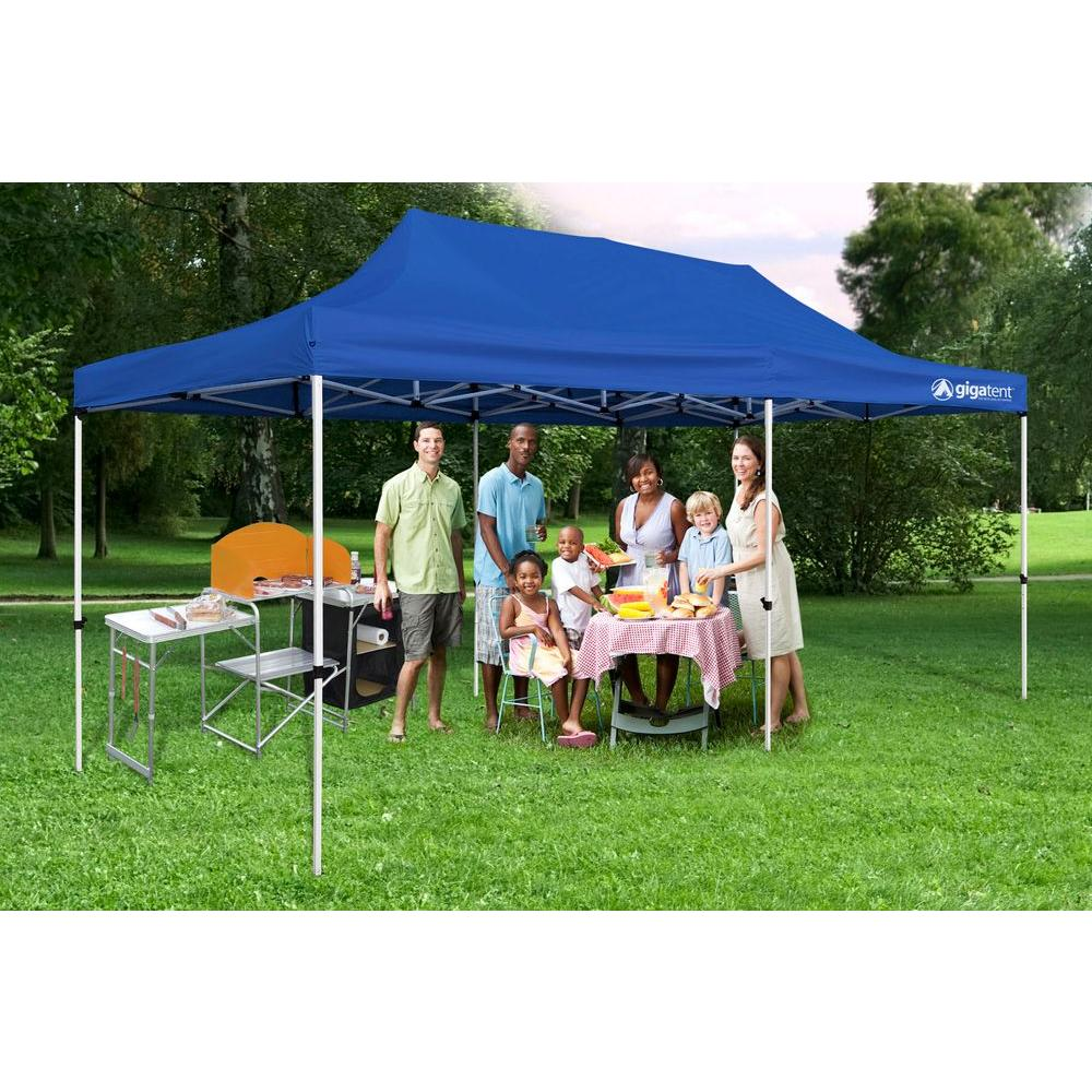 detailed look cafb0 c13e2 GigaTent Party Tent 10 ft. x 20 ft. Blue Canopy