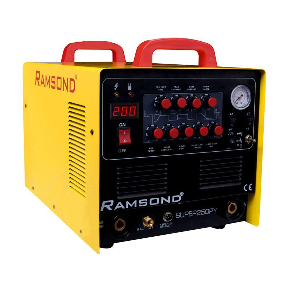Ramsond Super250DY 5-in-1 Multi-Function Digital Inverter Plasma Cutter /Welder