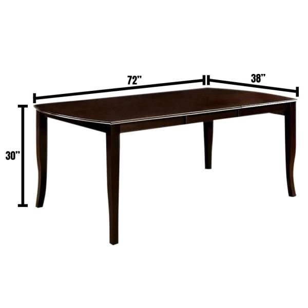 Woodside Dark Cherry and Espresso Transitional Style Dining Table