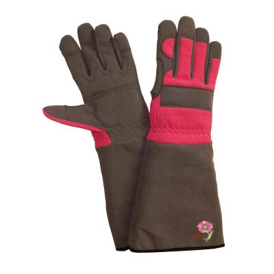 Red Briers Medium Lined Dual Leather Glove New Outdoor Living