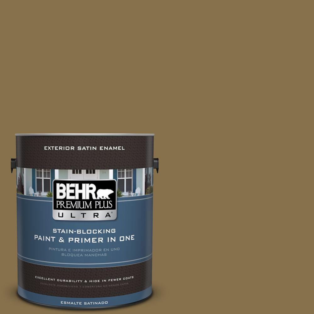 BEHR Premium Plus Ultra 1-gal. #S320-7 African Plain Satin Enamel Exterior Paint