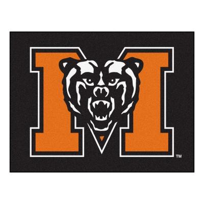 NCAA Mercer University Black 3 ft. x 4 ft. Area Rug