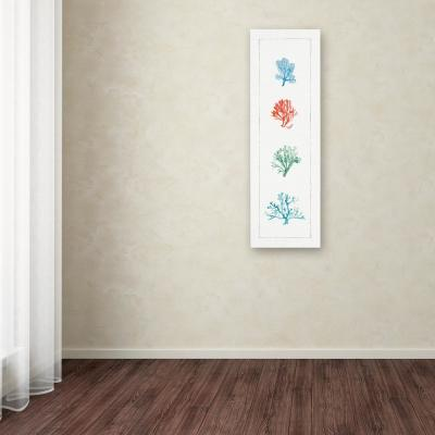 """24 in. x 8 in. """"Water Coral VII"""" by Lisa Audit Printed Canvas Wall Art"""